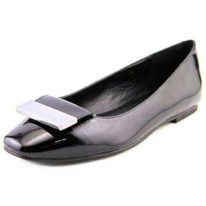 Vaneli Black Bailee Patent Leather Ballet Flats